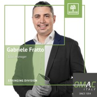 OMAC TEAM: GABRIELE FRATTO - SALES MANAGER
